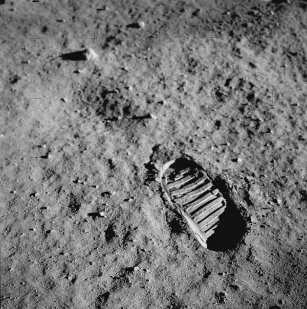 Buzz Aldrin Boot on the moon