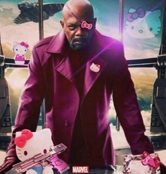 Hello Kittty Nick Fury