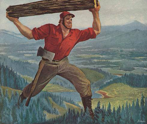 Lumberjack painting 2