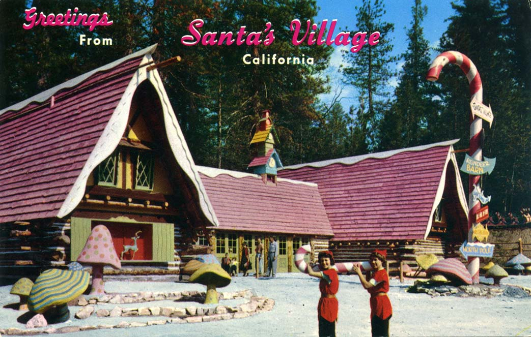 Santa's Village postcard