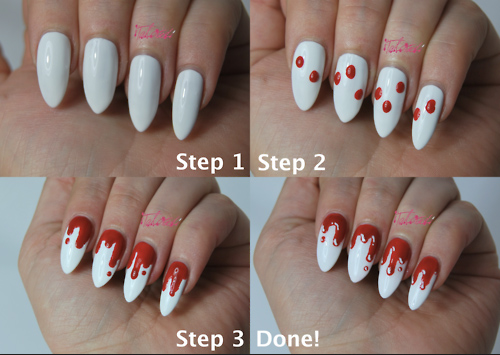 vampire nail art 2 - Vampire Nail Art 2 - Pee-wee's Blog