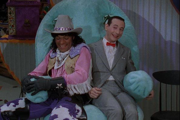 Pee-wee herman and Cowboy Curtis