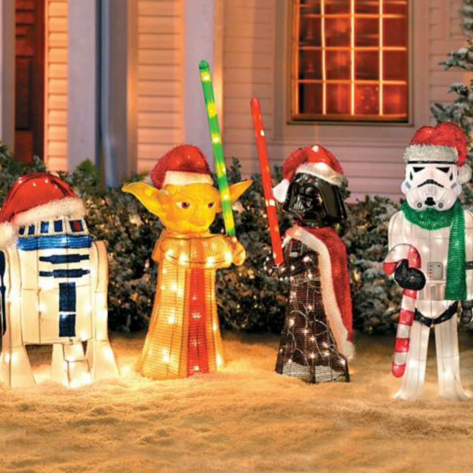 star wars lawn ornaments 1 - Outdoor Christmas Lawn Decorations
