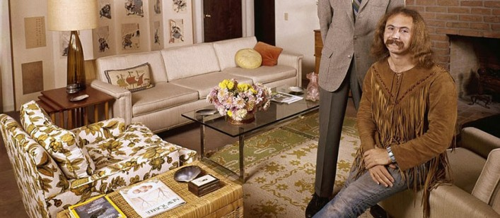 70's rock stars at home with their parents David Crosby