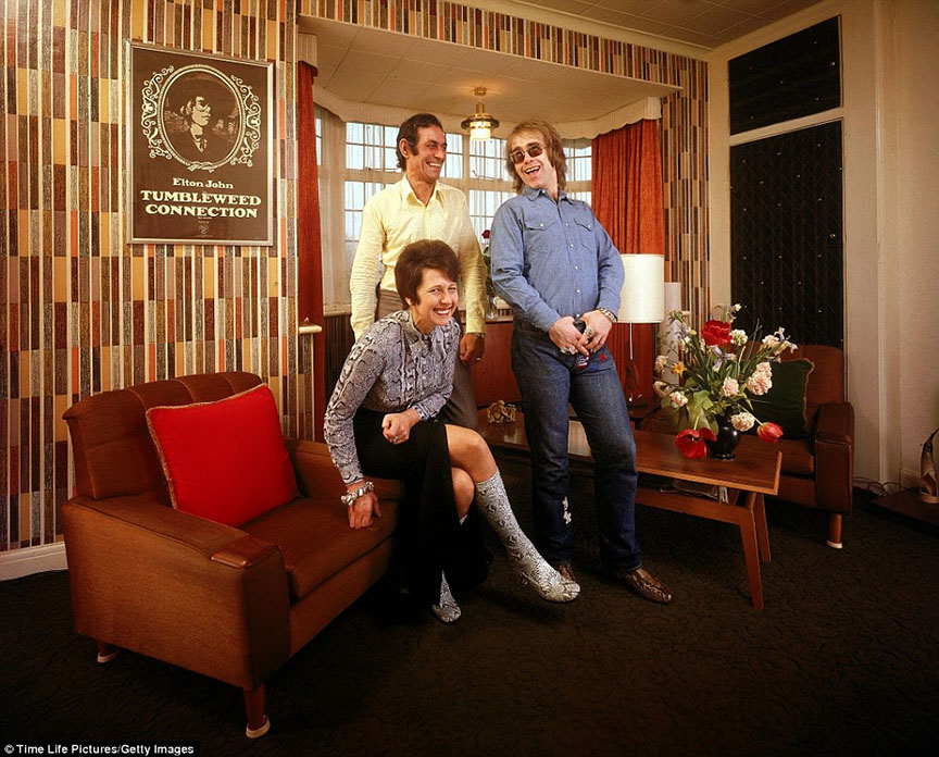 70's rock stars at home with their parents Elton John