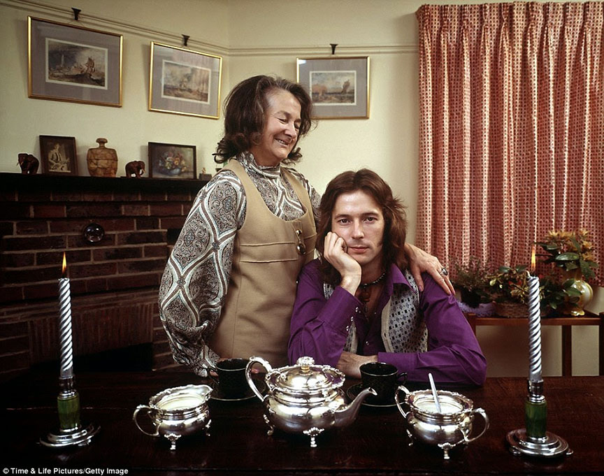 70's rock stars at home with their parents Eric Clapton