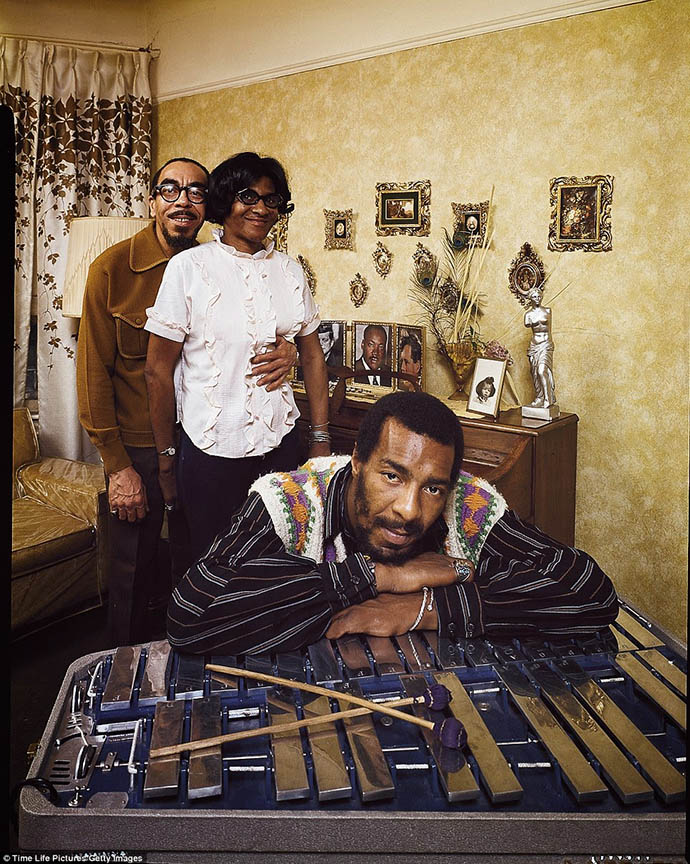 70's rock stars at home with their parents Richie Havens