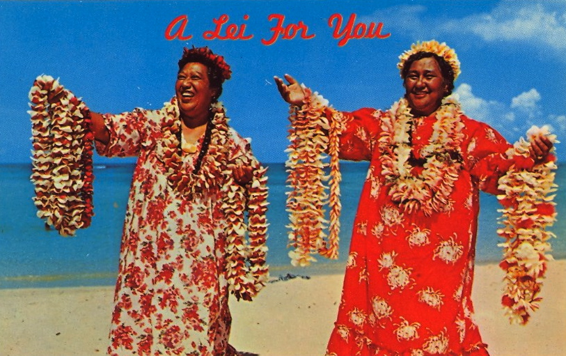 A Lei For You postcard
