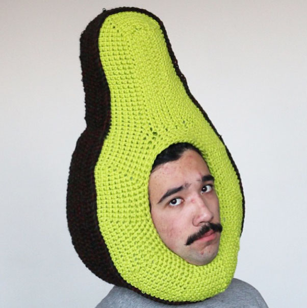 Avocado hat by chiliphilly
