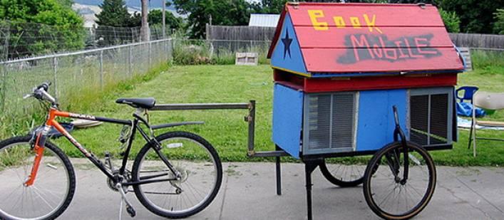 Bike bookmobile
