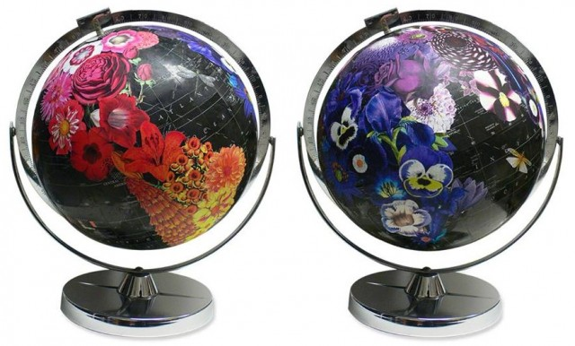 california artist wendy gold of imaginenations uses vintage globes and maps as her canvas httptiddly25d5a249