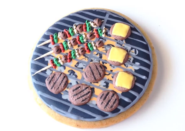 Hamburger grill cookies