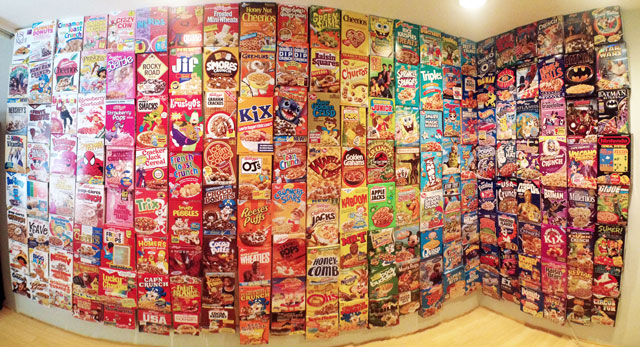 Behold A Colorful Wall Of Cereal Boxes Pee Wee S Blog