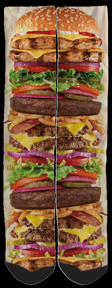 Crazy Hamburger socks