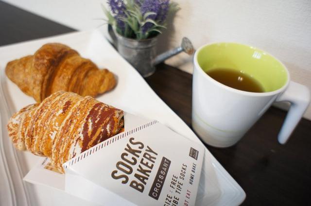 Croissant-socks