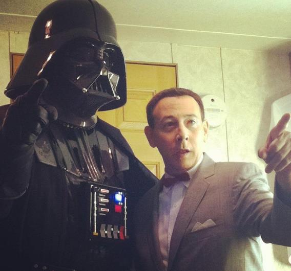 Darth Vader and Pee-wee Herman