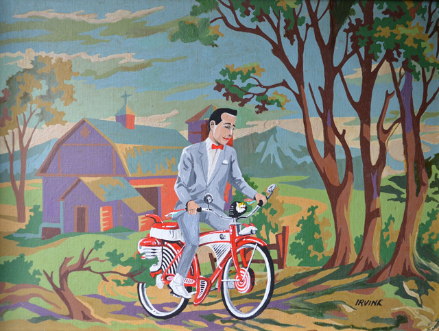 Someone Made A Pee Wee Paint By Number Using A Thrift