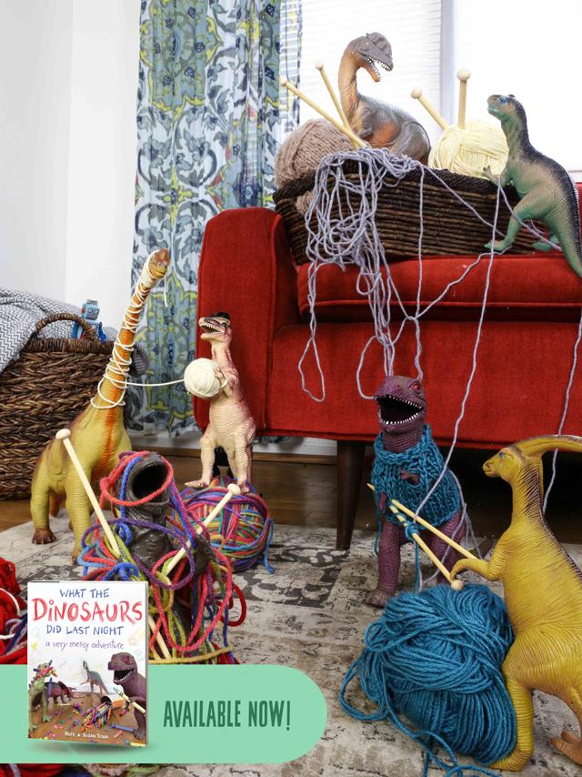 Dinos-in-yarn