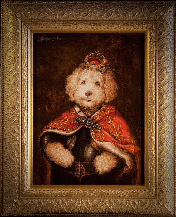 Royal dog portrait