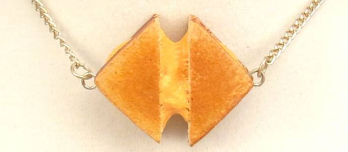 Grilled Cheese Stretchy Necklace