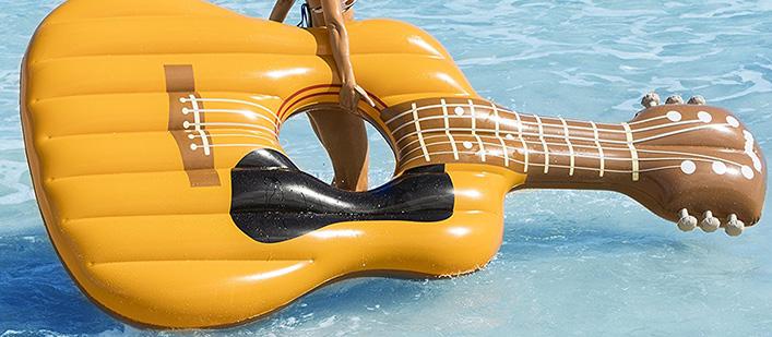 Guitar-pool-raft
