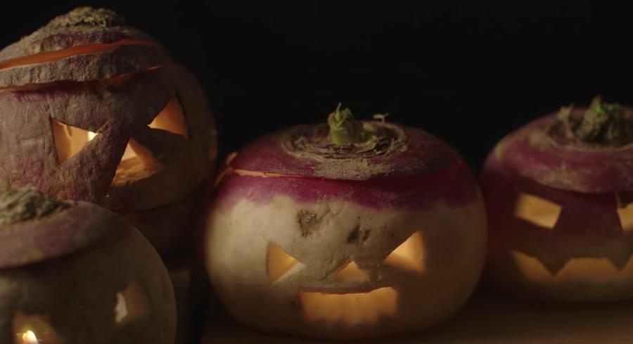Halloween turnips
