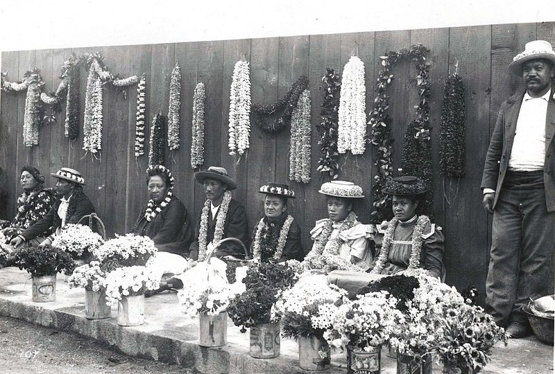 Hawaiian lei vendors 1901