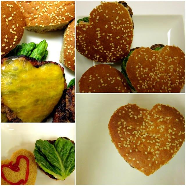 Heartshaped hamburgers