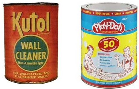 Kutol wall cleaner was the original Play-Doh