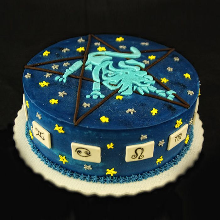 Leo Sign Birthday Cake