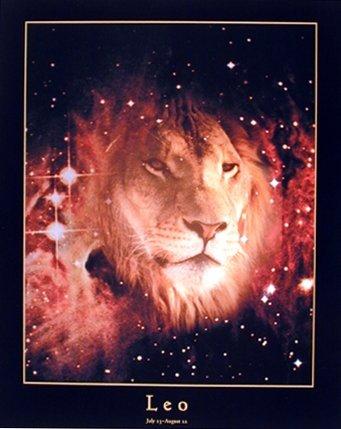 Leo zodiac art poster