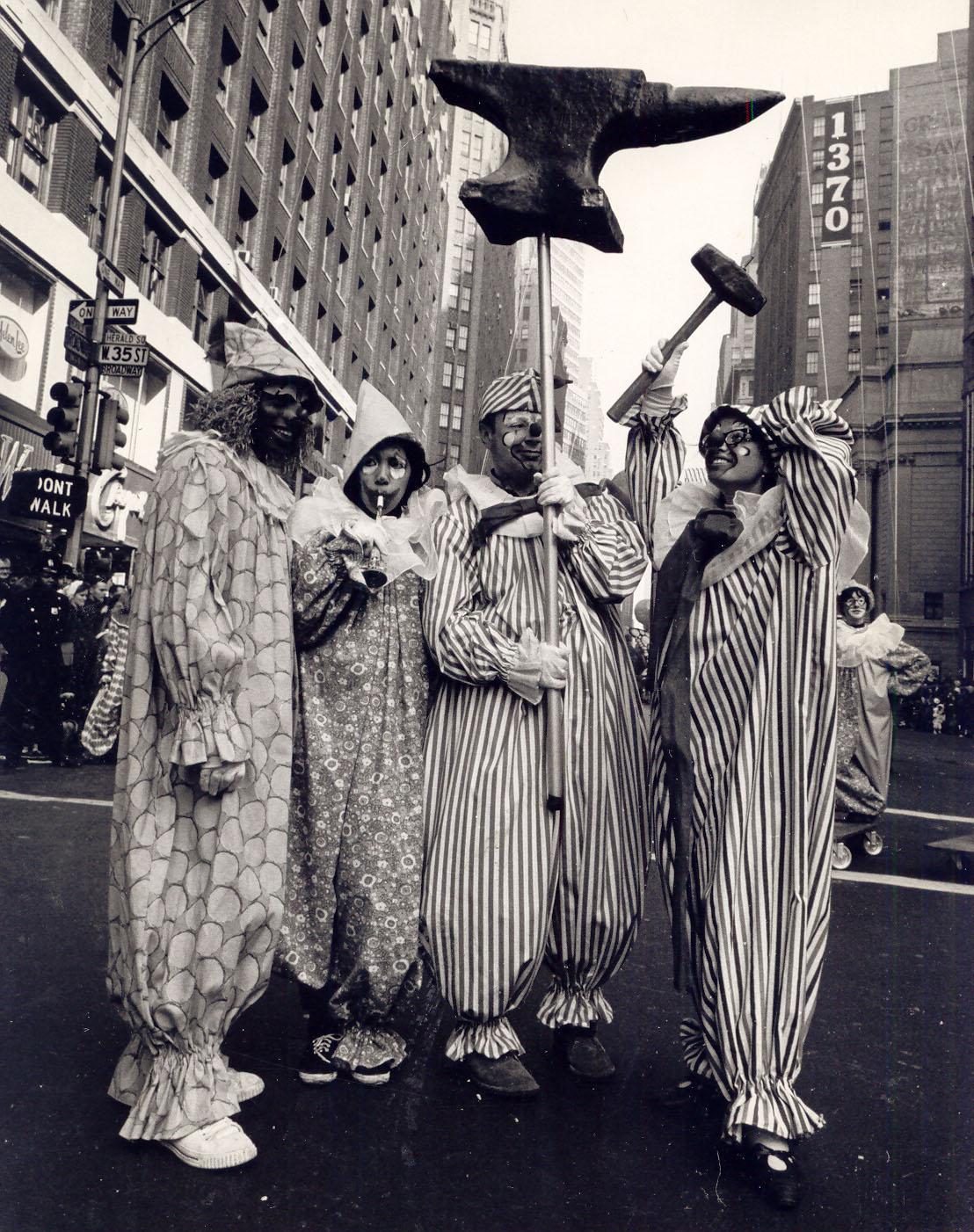 Macys Thanksgiving Day Parade Clowns 1966