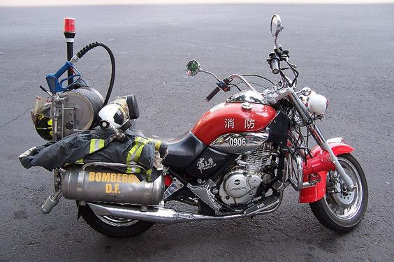 Mexico City Firefighter motorcycle