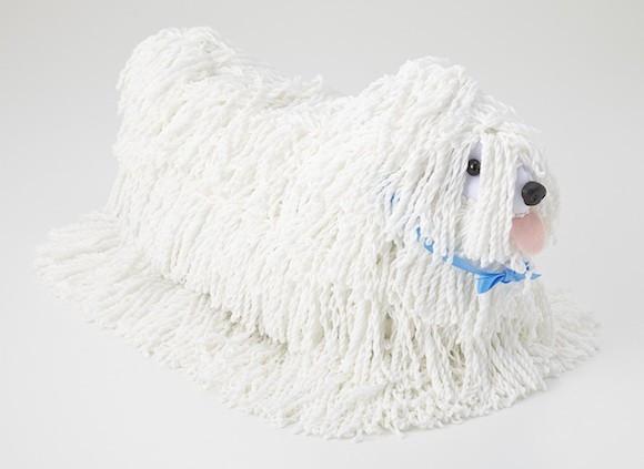 Mop Dog white