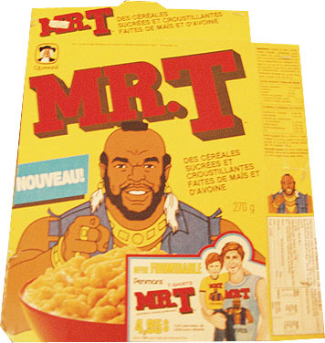 Mr T cereal in French