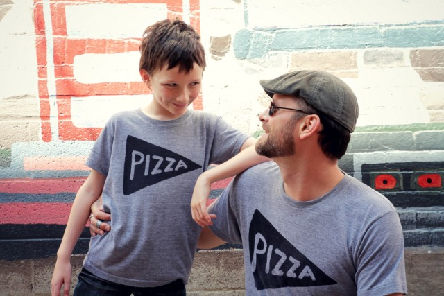 PIzza Matching tees