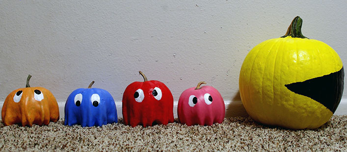 pac-man-pumpkins