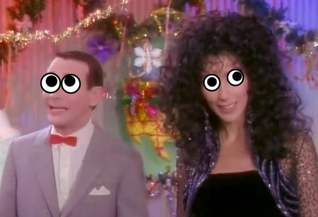 Pee-wee-and-Cher-with-googly-eyes