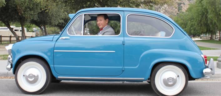 Pee-wee in his car Piru 3-18-15