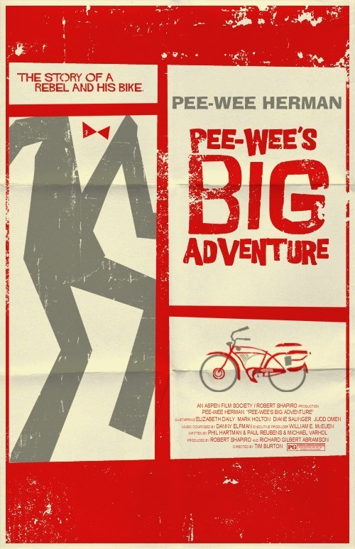 Pee-wee's Big Adventure poster by Team Weiser