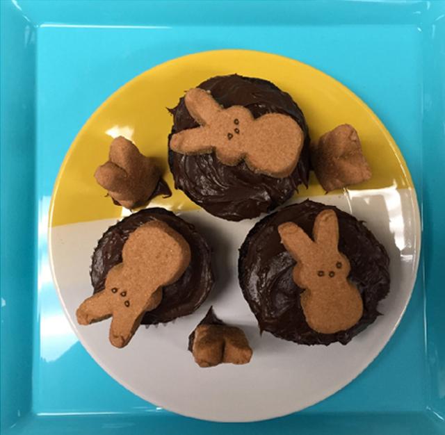 Peeps-chocolate-cupcakes