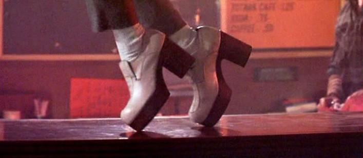 Peewees white platform shoes