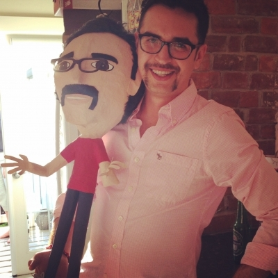 Pinata that looks like dad by Meaghan Kennedy
