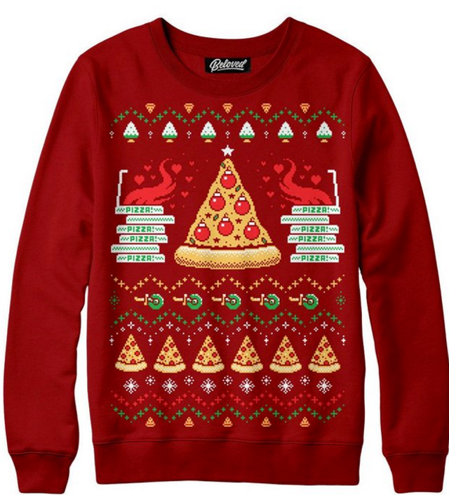 Pizza-Holiday-Sweater