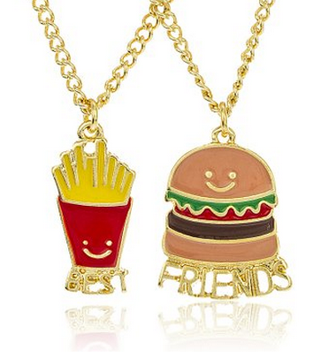 Fries and Burger BFF necklaces