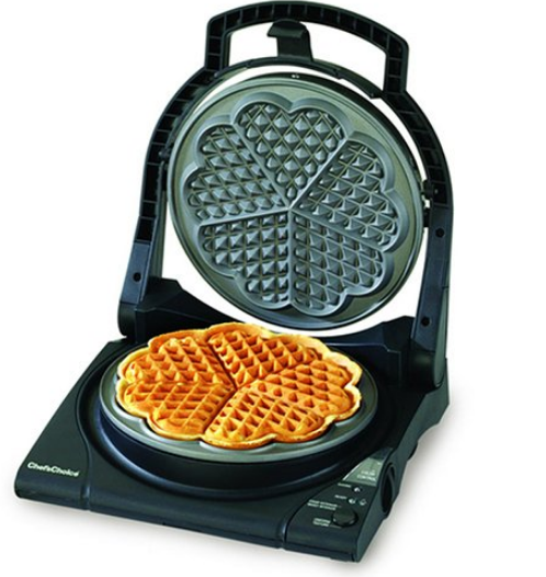heart shaped waffle iron maker