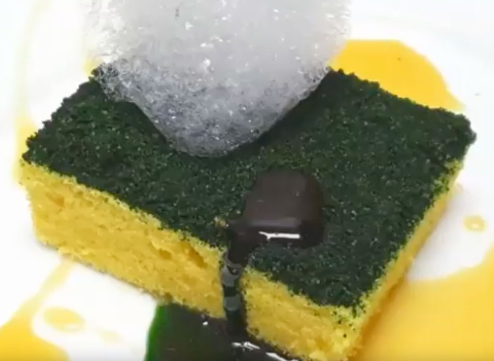 9486c4d16abb Chef Ben Churchill is a self-proclaimed FOOD ILLUSIONIST and what an amazing  illusion he s concocted… this SPONGE CAKE! It s a cake that looks like a  yellow ...
