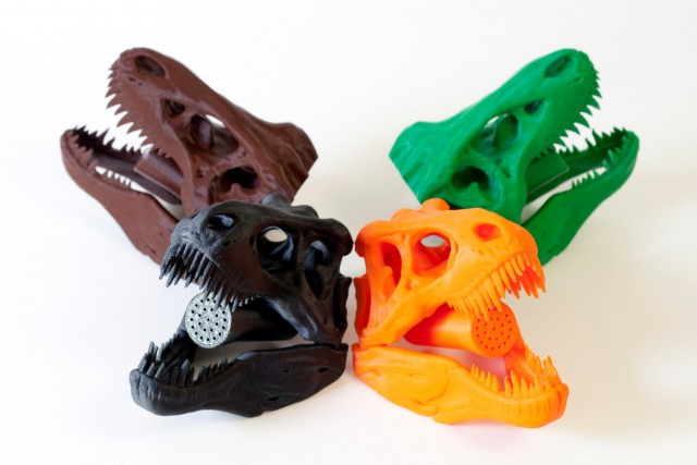 T rex skull shower head