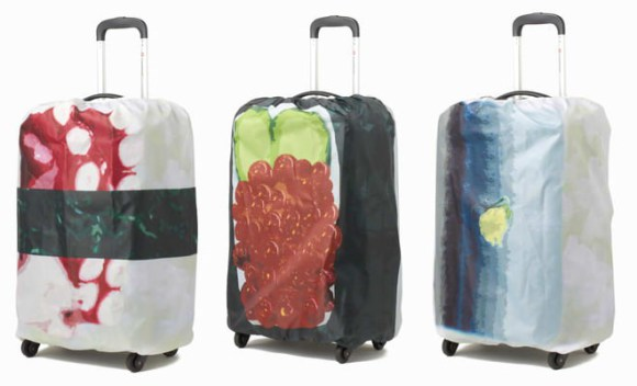 Three sushi suitcase covers