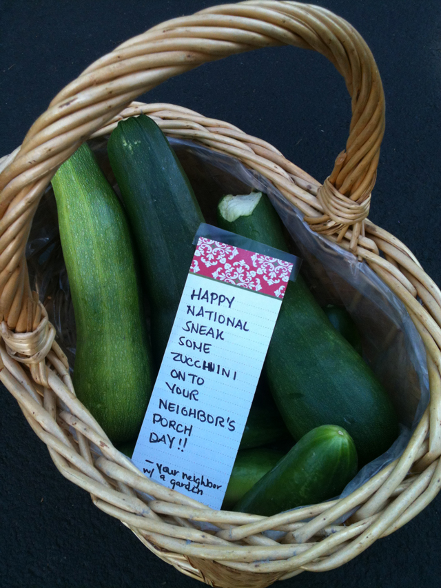 today  sneak  zucchini   neighbors porch day pee wees blog
